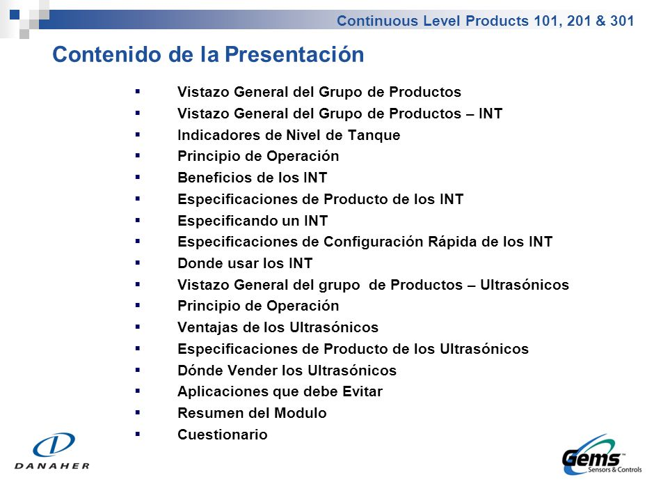 Vistazo General del Grupo de Productos