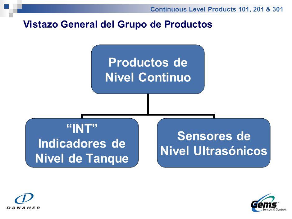 Vistazo General del Grupo de Productos – Indicadores de Nivel de Tanque