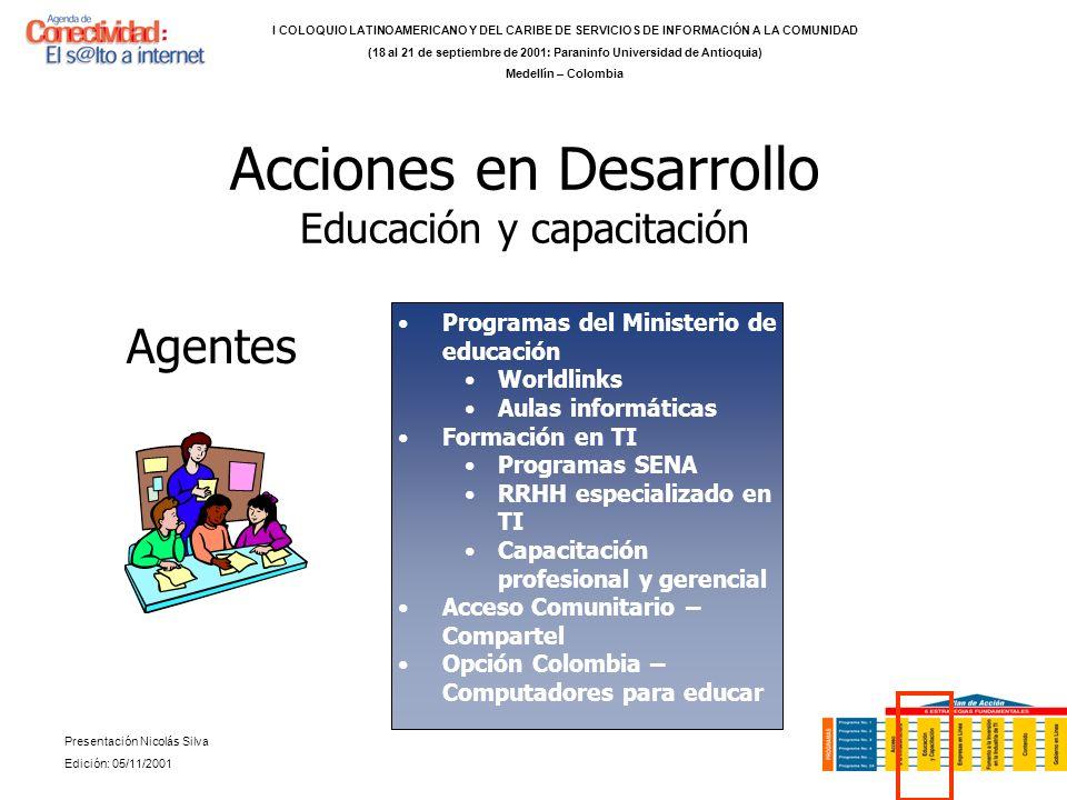 Acciones en Desarrollo Educación y capacitación