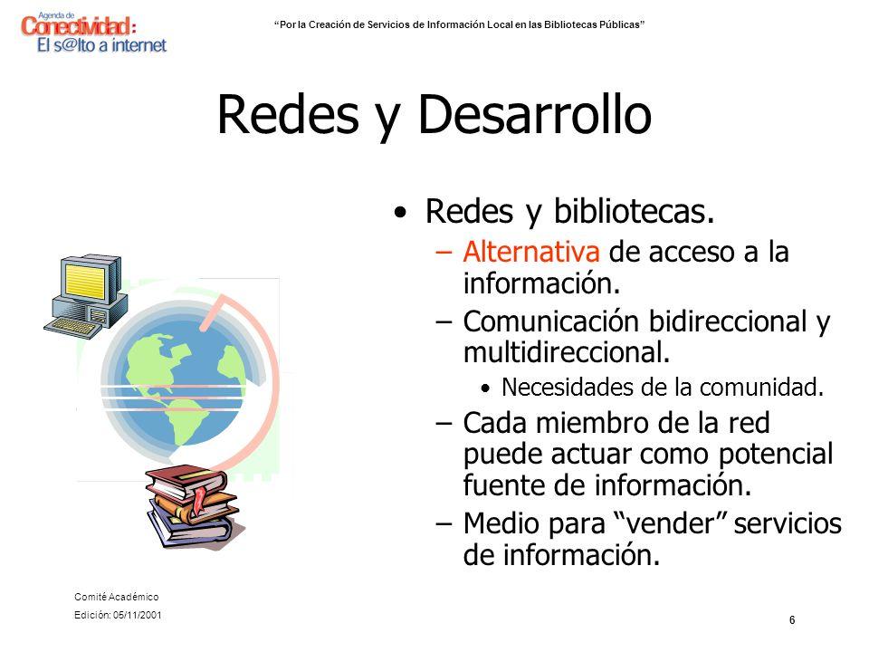 Redes y Desarrollo Redes y bibliotecas.