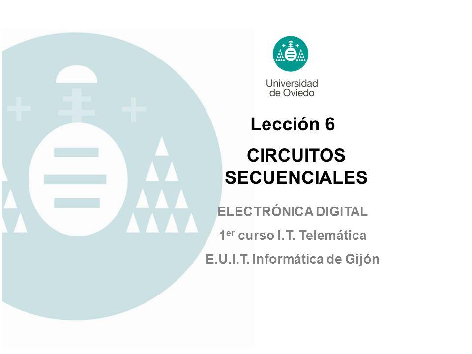 CIRCUITOS SECUENCIALES E.U.I.T. Informática de Gijón