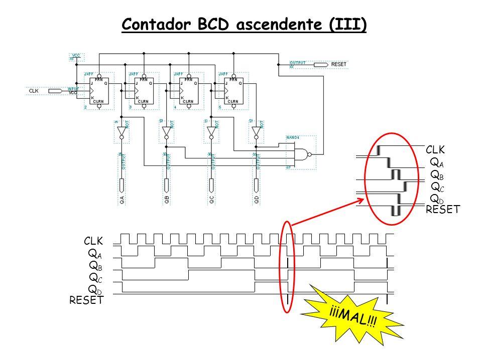 Contador BCD ascendente (III)