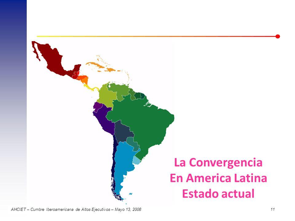 La Convergencia En America Latina Estado actual