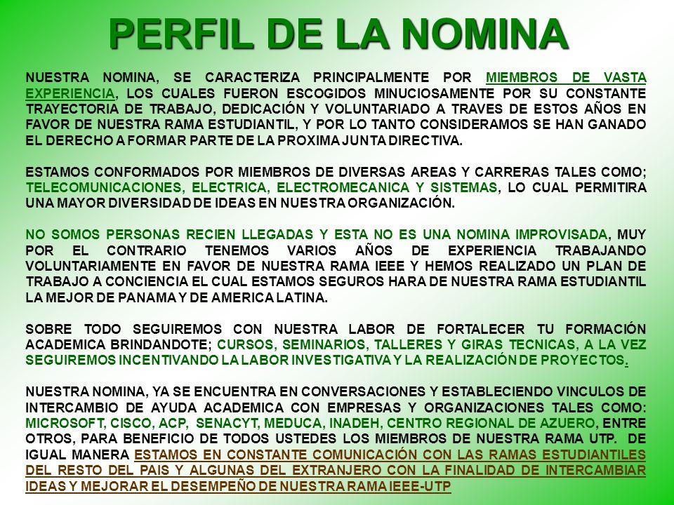 PERFIL DE LA NOMINA