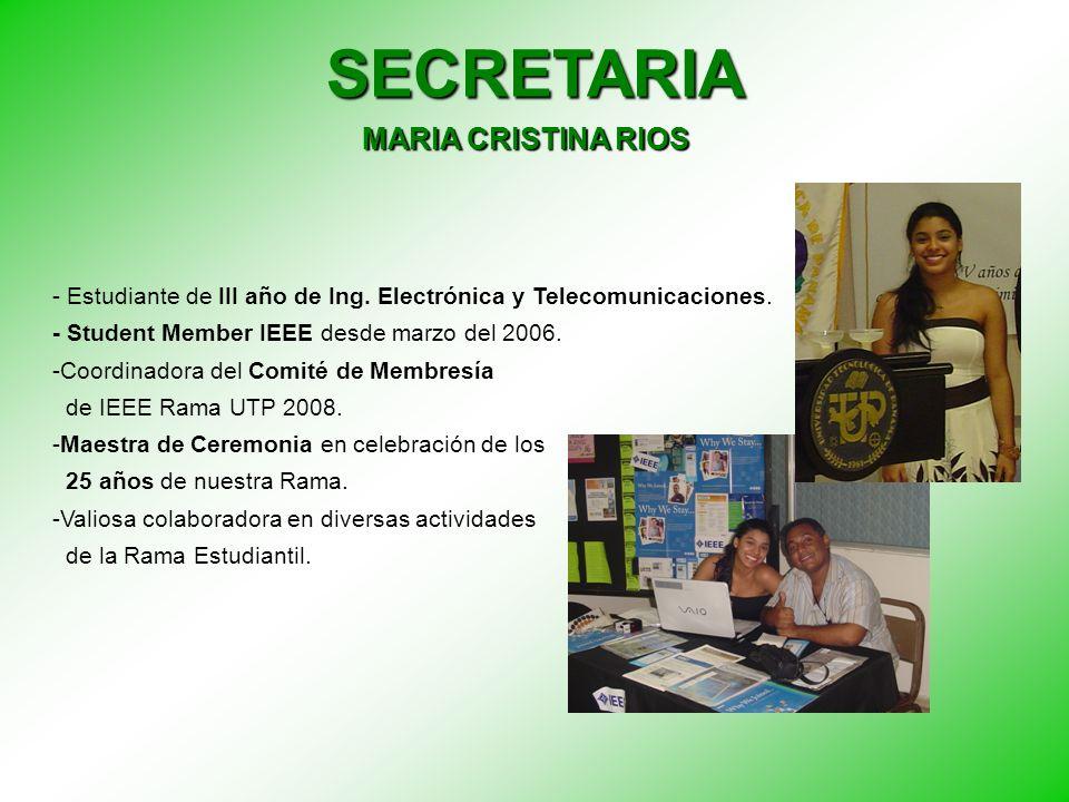 SECRETARIA MARIA CRISTINA RIOS