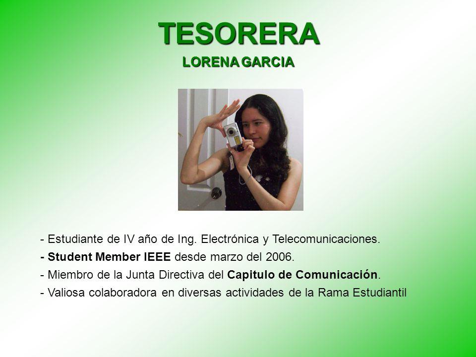 TESORERA LORENA GARCIA