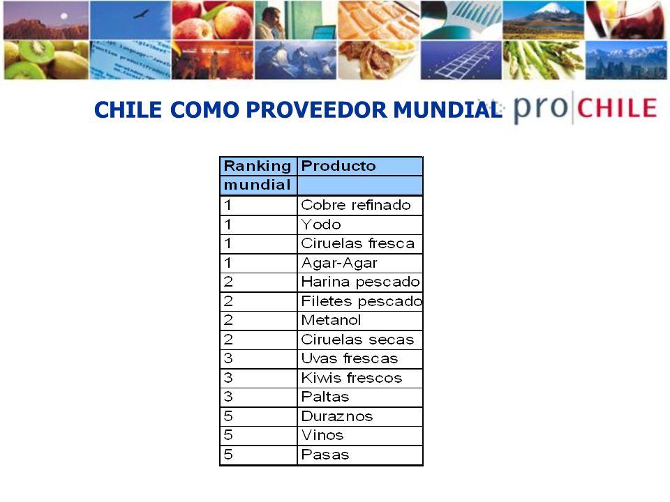 CHILE COMO PROVEEDOR MUNDIAL