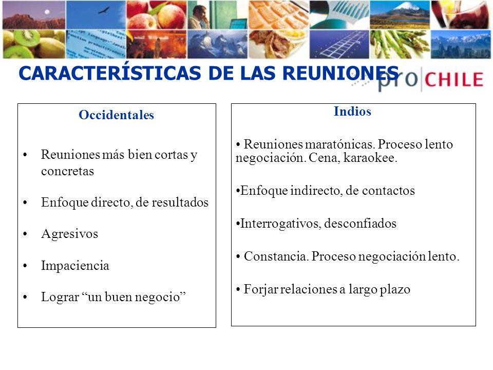 CARACTERÍSTICAS DE LAS REUNIONES