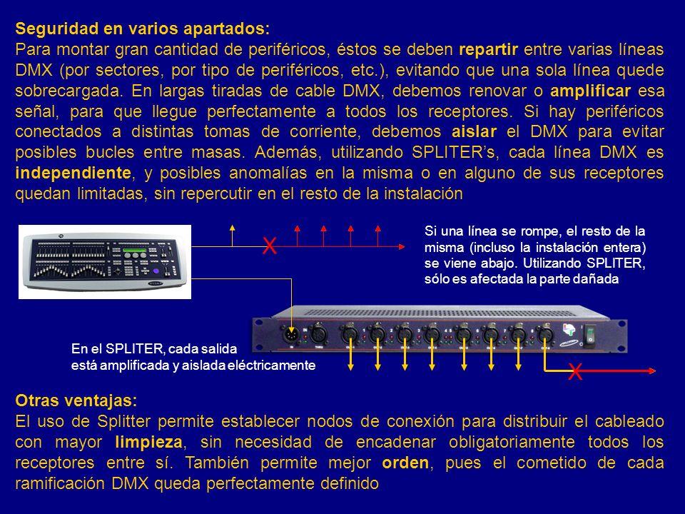 X X Seguridad en varios apartados: