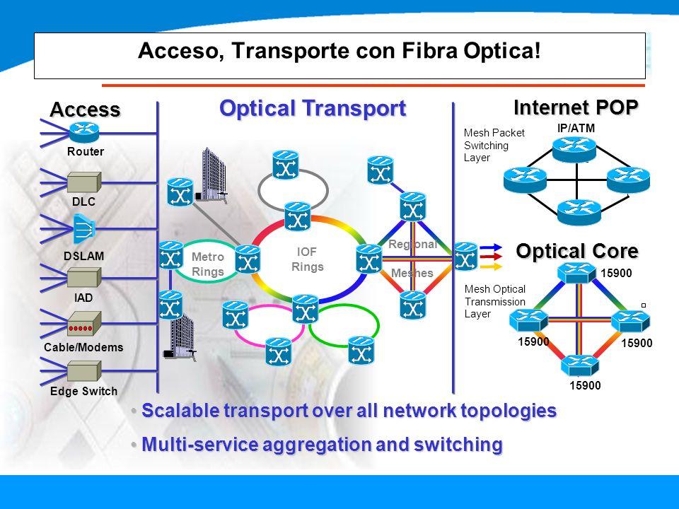 Acceso, Transporte con Fibra Optica!