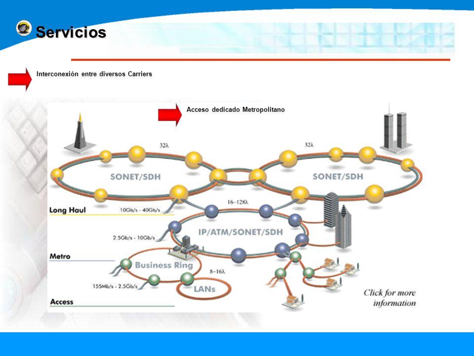Servicios Interconexión entre diversos Carriers