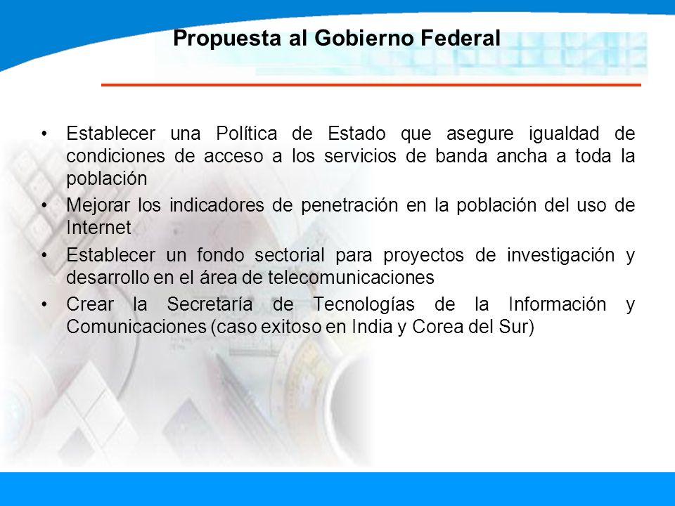 Propuesta al Gobierno Federal