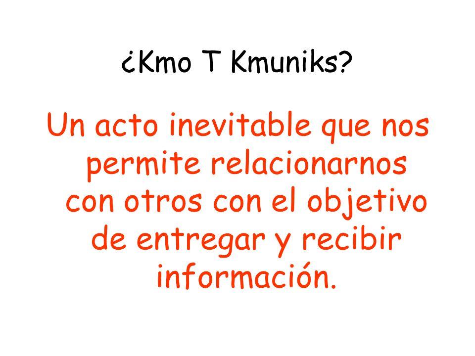 ¿Kmo T Kmuniks.
