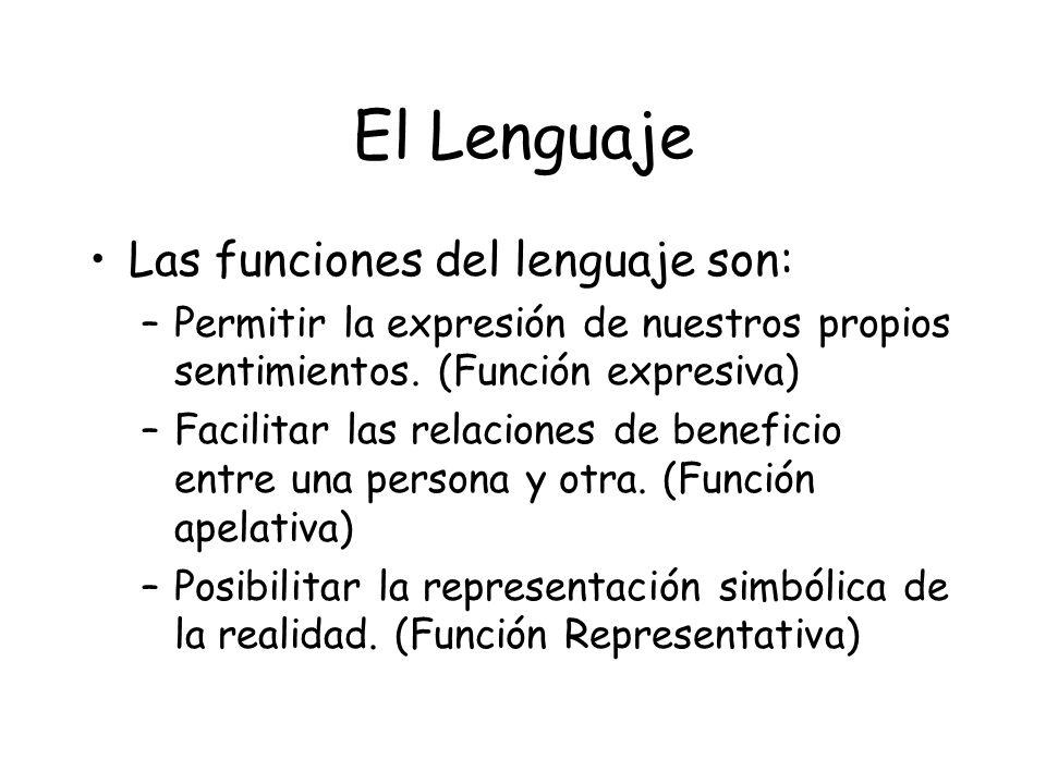 El Lenguaje Las funciones del lenguaje son: