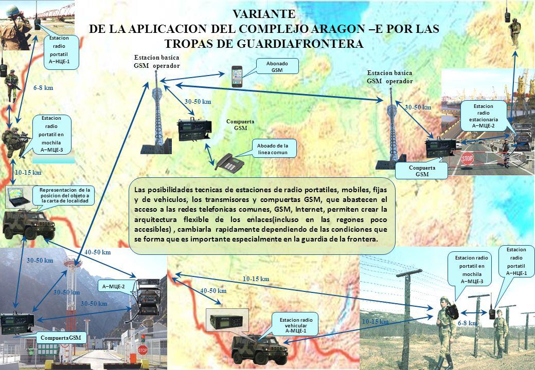 VARIANTE DE LA APLICACION DEL COMPLEJO ARAGON –E POR LAS TROPAS DE GUARDIAFRONTERA. Estacion radio portatil.