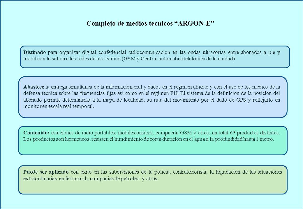 Complejo de medios tecnicos ARGON-E
