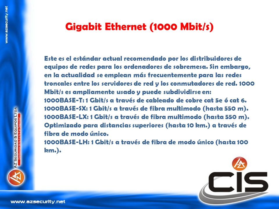 Gigabit Ethernet (1000 Mbit/s)