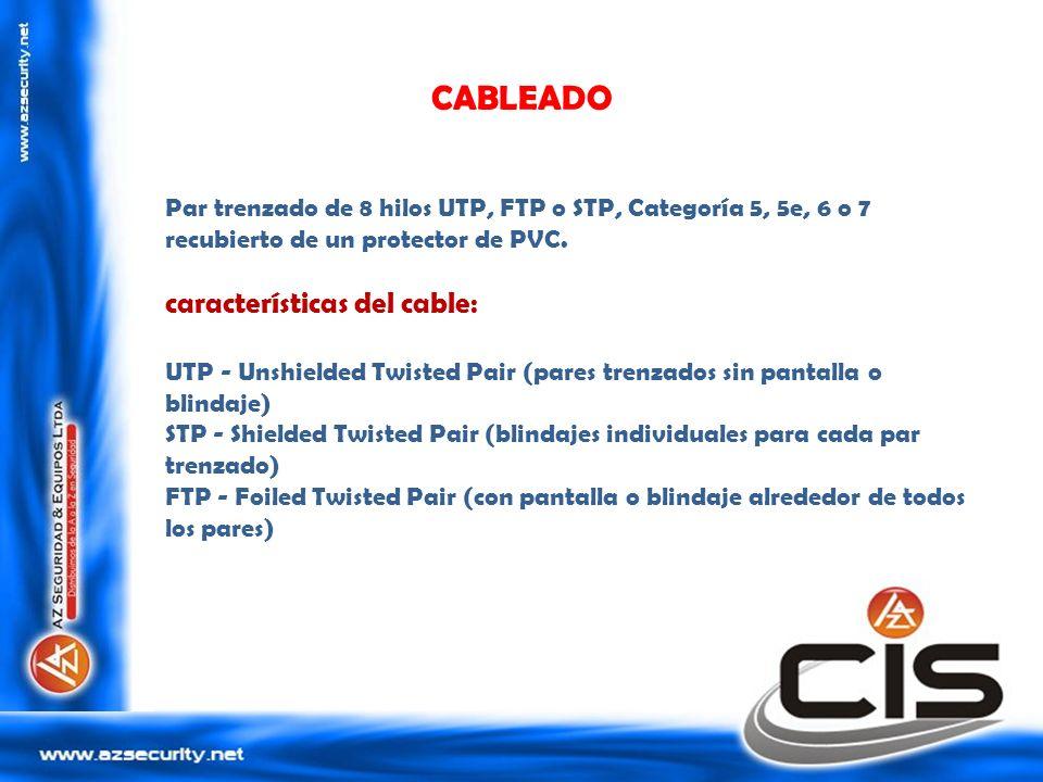 CABLEADO características del cable: