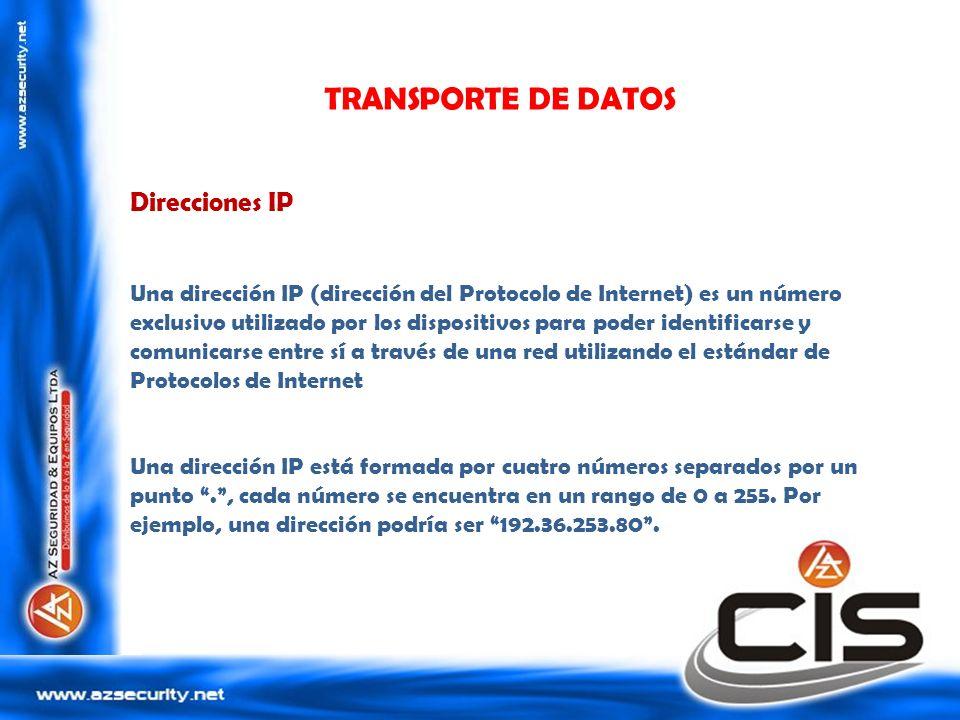TRANSPORTE DE DATOS Direcciones IP