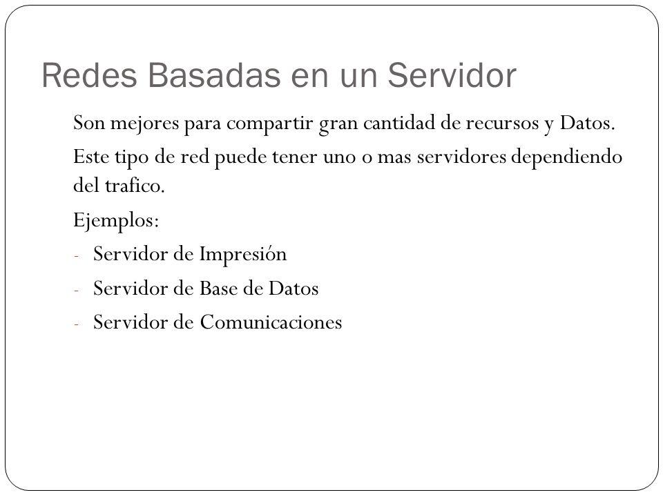 Redes Basadas en un Servidor