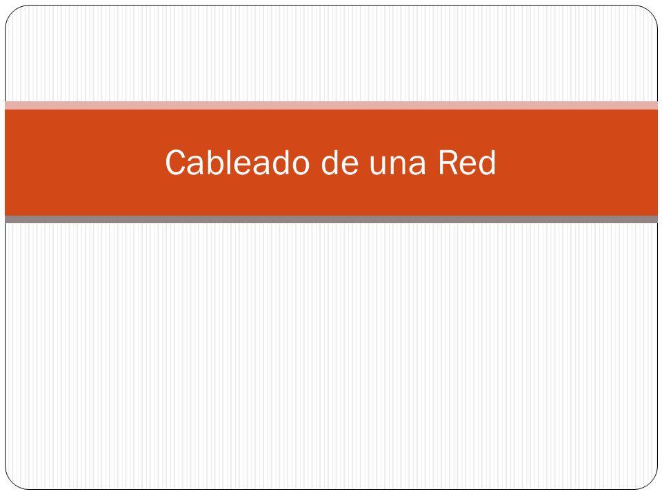 Cableado de una Red