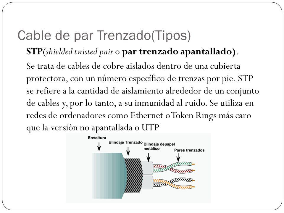 Cable de par Trenzado(Tipos)