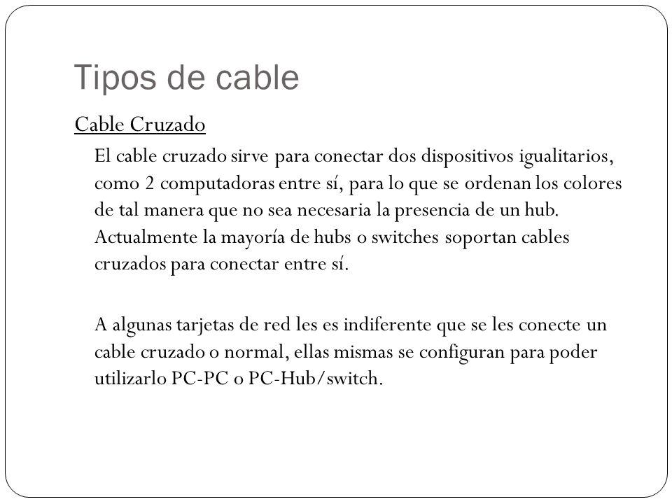 Tipos de cable Cable Cruzado