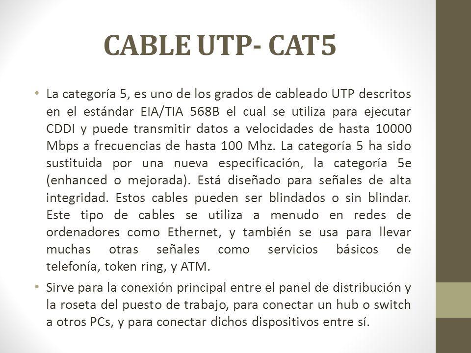 CABLE UTP- CAT5