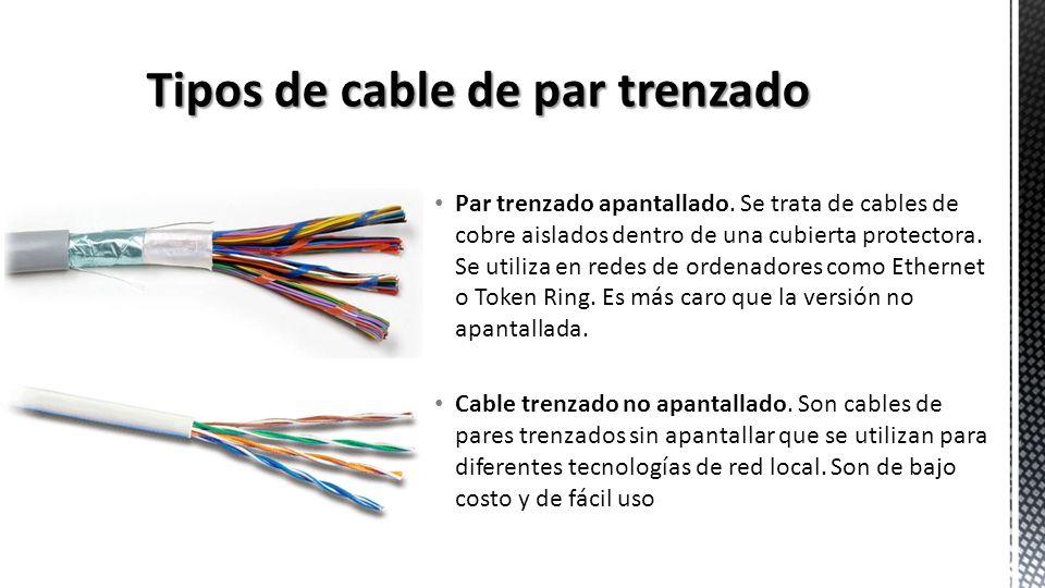 Tipos de cable de par trenzado