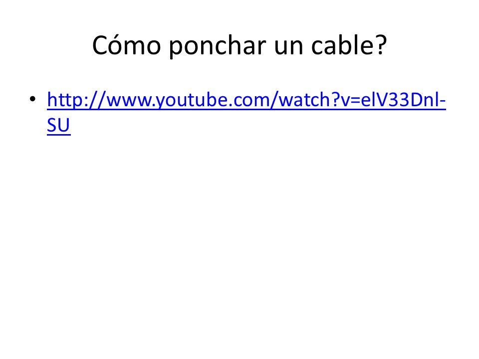 Cómo ponchar un cable http://www.youtube.com/watch v=elV33Dnl-SU