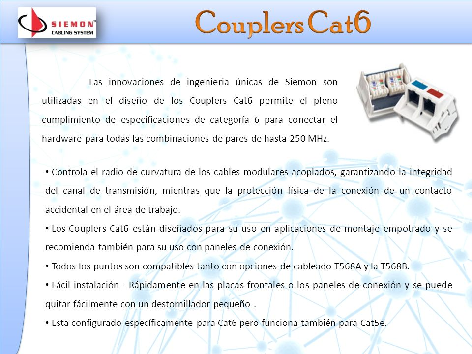 Couplers Cat6