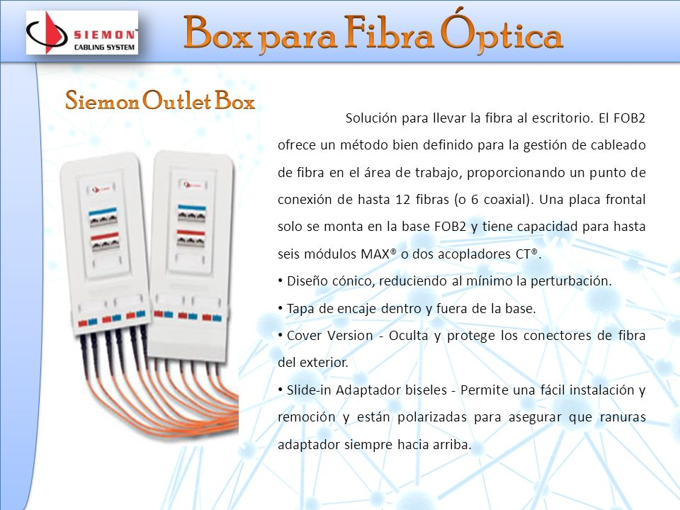 Box para Fibra Óptica Siemon Outlet Box