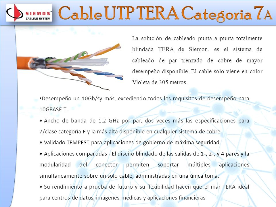 Cable UTP TERA Categoria 7A