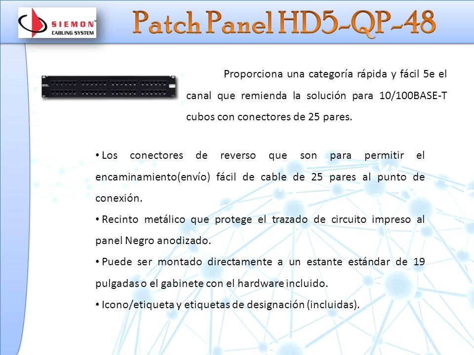 Patch Panel HD5-QP-48
