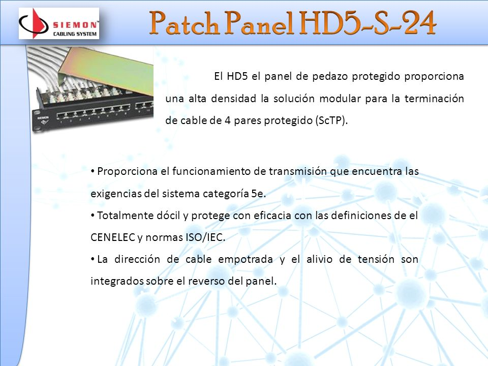 Patch Panel HD5-S-24