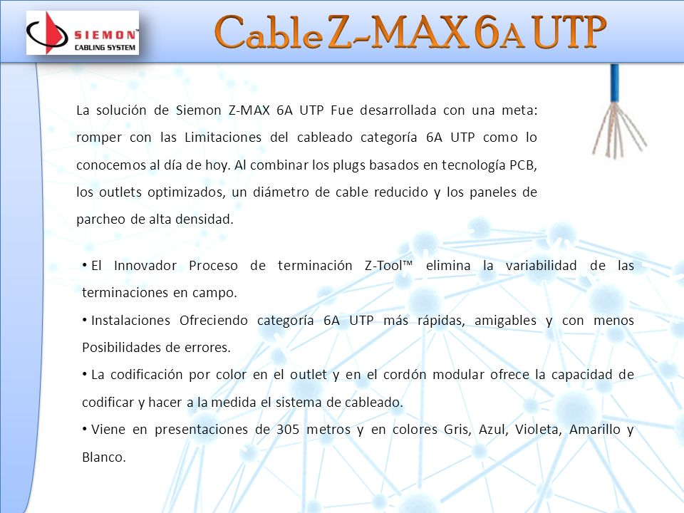Cable Z-MAX 6A UTP