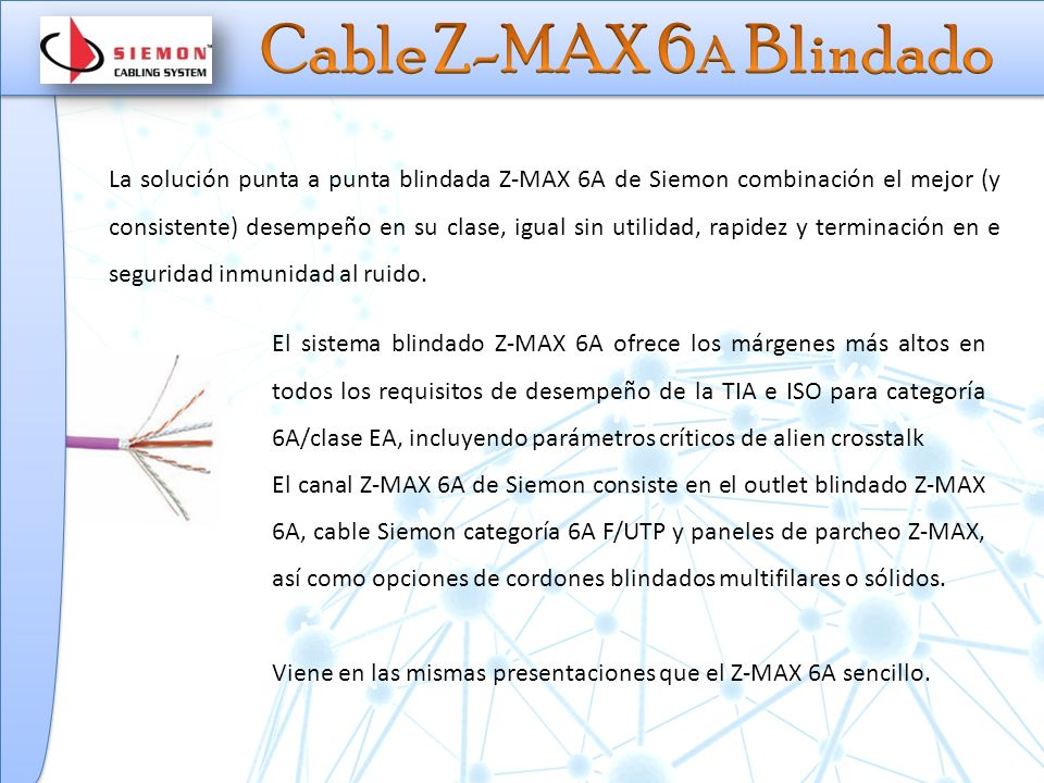 Cable Z-MAX 6A Blindado