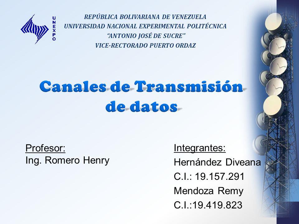 Canales de Transmisión de datos