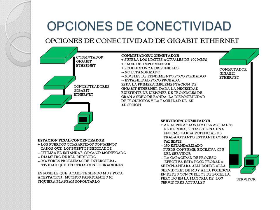 OPCIONES DE CONECTIVIDAD
