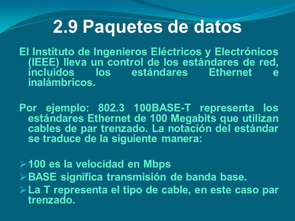 2.9 Paquetes de datos