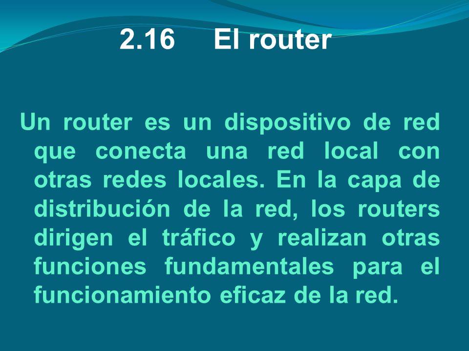 2.16 El router