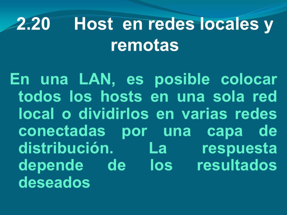 2.20 Host en redes locales y remotas