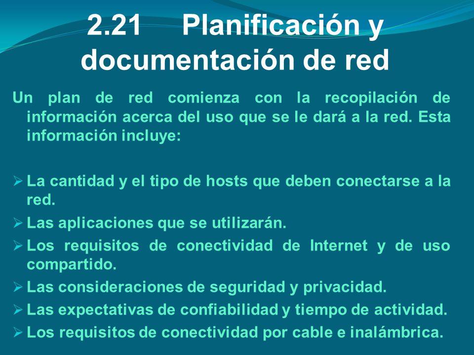 2.21 Planificación y documentación de red