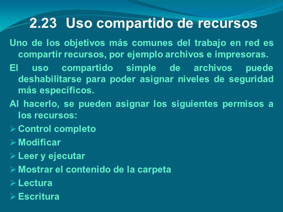 2.23 Uso compartido de recursos