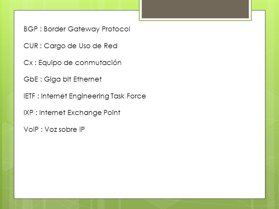 BGP : Border Gateway Protocol