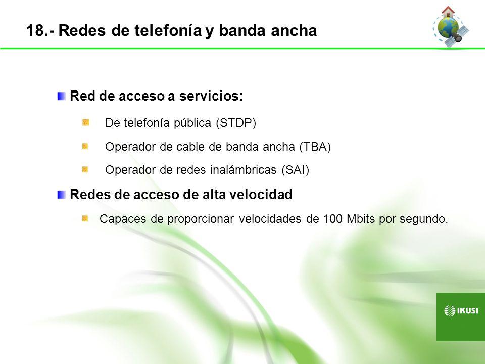 18.- Redes de telefonía y banda ancha