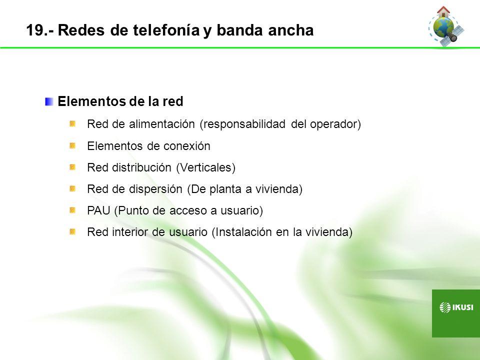 19.- Redes de telefonía y banda ancha