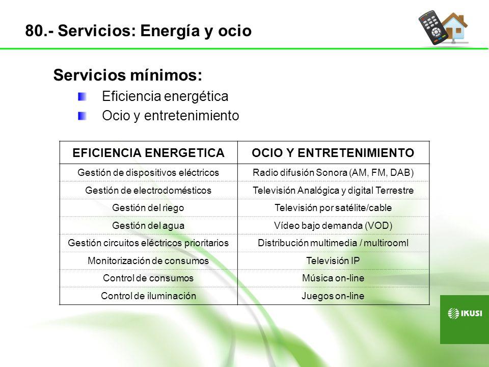 EFICIENCIA ENERGETICA OCIO Y ENTRETENIMIENTO