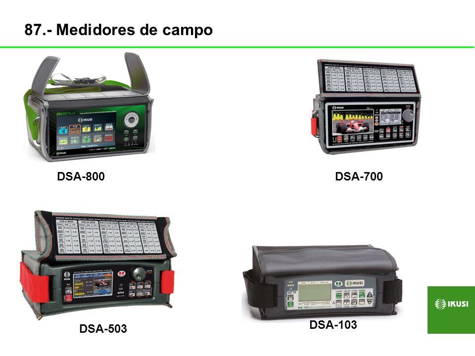 87.- Medidores de campo DSA-800 DSA-700 DSA-103 DSA-503