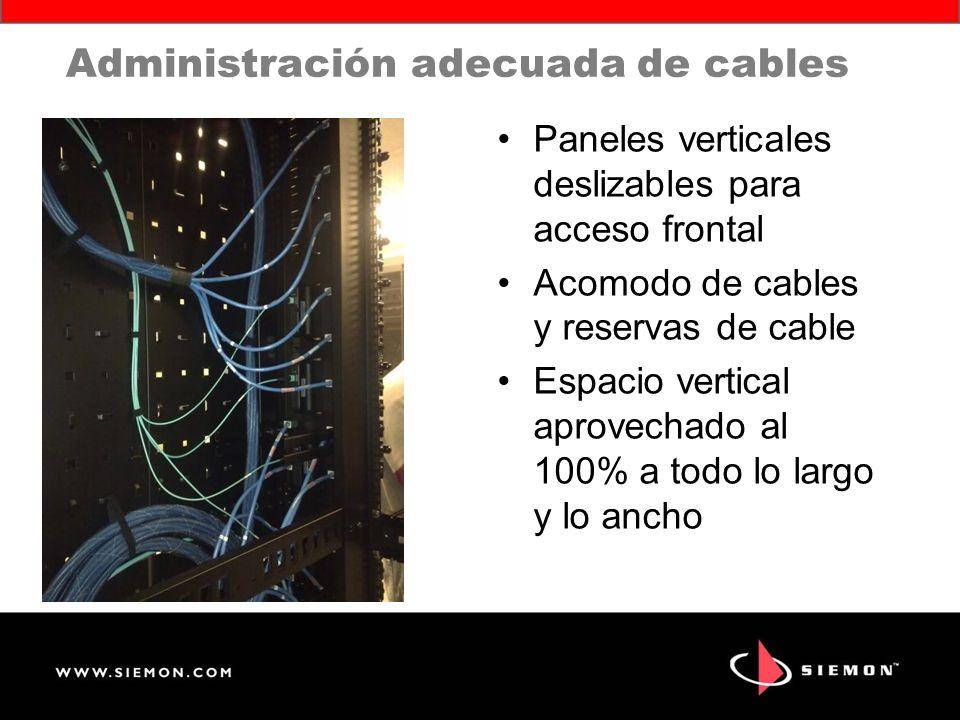 Administración adecuada de cables